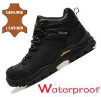 Men Summer Genuine Leather Waterproof Genuine Leather New Brand 2104 High Quality Men Hiking Shoes Mens High-top Boots Outdoor Walking Shoe Rubber Vamp Flats wholesale