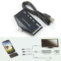 USB 27909 For Samsung Micro USB OTG Card Reader HUB MHL to HDMI HDTV TV Adapter For Galaxy S3 S4 Note2