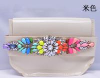 Wholesale vintage Summer Rainbow gem pink PVC handbags single shoulder bag shourouk best Gift boutique jewelry women fashion