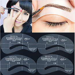 Wholesale Hot Selling Eyebrow Stencil Tool Makeup Styles Eye Brow Template Shaper Make Up Tool Free Ship JC05006