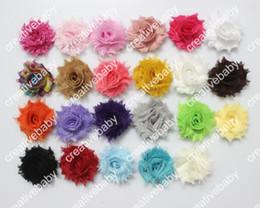 Mini Shabby Frayed Flowers - 1.5''Chiffon Fabric fascinator hair accessories 100pcs lot