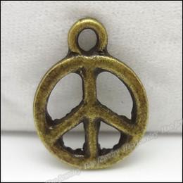 Wholesale B Vintage Charms Peace Pendant Antique bronze Fit Bracelets Necklace DIY Metal Jewelry Making