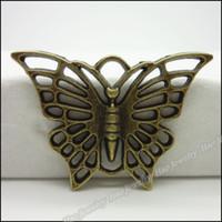 Wholesale B Vintage Charms Butterfly Pendant Antique bronze Fit Bracelets Necklace DIY Metal Jewelry Making