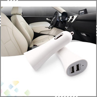 Wholesale USB Dual Port Car Charger Chargers with A v for iPad iphone5 S iPod lenovo Samsung galaxy s4 s5 huawei smartphone