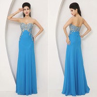 Reference Images Sweetheart Chiffon Stunning real picture 2014 In Stock Crystal Blue Evening Dresses Beaded Prom Gown 2015 Backless Mermaid Trumpet Sweetheart Formal Gown SSJ