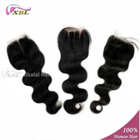 Wholesale Top Closure Brazilian Hair free part middle part three part available A great lengths Natural Black Color About g all virgin xblhair