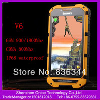 Dual Core dual sim phones gsm cdma - Cdma gsm dual sim android smart phone discovery V6 ip68 smartphone MSM8625 dual core Ghz GSM MHz and CDMA800Mhz