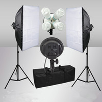 Wholesale E27 Sock Softbox Bulb Lamp Continuous Lighting Kit Light Stand for Photo Video