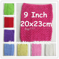 Headbands Lace Animal 6pcs lot 2014 Chic Cute colored Baby Girl 9 Inch Crocheted Tube Tops Kids Crochet Chest Wraps wholesale H018