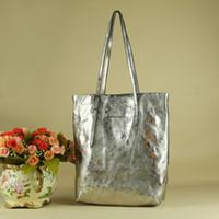 Wholesale Hot sale fashion latest ladies handbags Shiny messenger bag seqiun Totes Shoulder bag genuine leather handbags