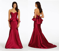 Reference Images Sash Sleeveless 2014 Bridesmaid Dresses Cheap bridesmaid cherry mikado trumpet gown sweetheart neckline peplum skirt maid of honor dress