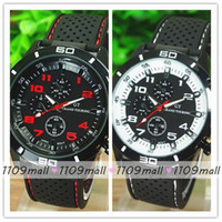 Casual silicone - Best Selling GT Logo ECO friendly Silicone Strap Men Military Casual quartz Wristwatch Round Dial Watches with colorful numbers