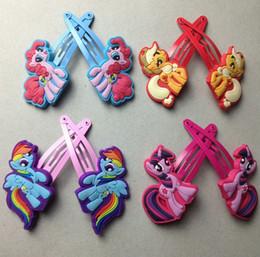 Wholesale My little pony Children Headwear Side clip Animated cartoon Headwear BB Clips hairpin