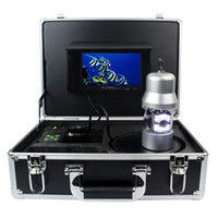 achat en gros de 14 pouces lcd-7 pouces LCD Underwater Video Camera poisson Système Finder Fishing Tackle nicheurs Surveillance 700TVL 14 LED 20M / 50M / 100M SD Card W2019A