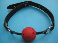 Wholesale New open mouth bondage red silica gel ball gag passion flirting BDSM mouth gags sex product toys XXM18