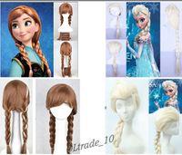 Wholesale Frozen Elsa Wig Princess Anna Wig Synthetic Wig Cosplay Animation Wigs Frozen A73