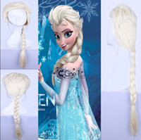 Wholesale Frozen Elsa Wig Princess Anna Wig Synthetic Wig Cosplay Animation Girls Wigs Frozen A76