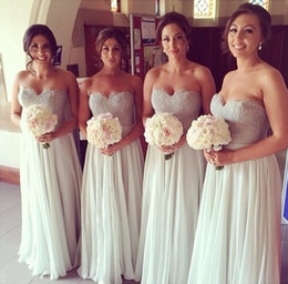 Real Image ! Sweethear A-line Chiffon And Lace Zipper Bridesmaid Dresses Free Shipping Wedding Party Evening Vestidos