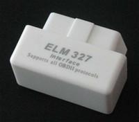Wholesale White MINI ELM327 Bluetooth OBD2 V1 car detector developed wireless scan tool hree colors choose