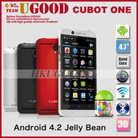 "Quad Core Android Lenovo Original Cubot One MTK6589T 1.5GHz Android 4.2 3G Smartphone 1GB RAM 8GB ROM 4.7"" IPS Screen 13MP Camera Mobile Phone Cell GPS"