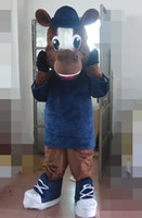 Wholesale SX0727 real photos of brown colour horse mascot costume for adults to wear for sale