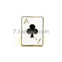 Wholesale B134 new jewelry cute and funny modern poker suit small lapel collar flower brooch