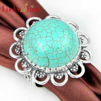 Free Shipping - - - Nature stone ring Jewelry 925 silver Turquo...