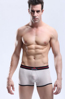 Spandex Boxers Sexy New 2014 Fashion Panties Men Male See Through Boxers Underwear Sexy Bulge Pouch Breathable Trunks Shorts M16-1