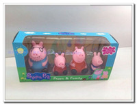 Unisex 5-7 Years Anime & Comics peppa pig toys peppa pig family dolls new 2014 classic toys Environmental protecting soft plastic toy for children gift kids toy