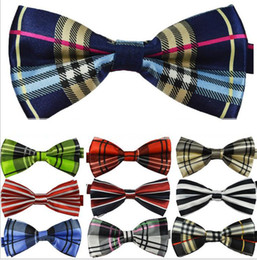 Wholesale 2014 new Top quality British style Mens Womens Unisex Floral Star Check Polka Dot Stripes Print Bowtie Neckwear Bow Tie