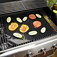 Wholesale BBQ grill mat l sheet cooking and baking and microwave oven use black PFOA free