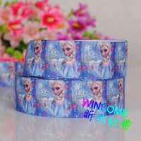 Statin Ribbon  printed ribbon - Mix Designs Yards mm Ribbon Frozen princess girl cartoon printed grosgrain ribbon