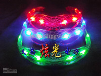 Wholesale 2014 Brand New Spider Man LED Flashing Light Up Glasses Halloween toy Christmas Party supply
