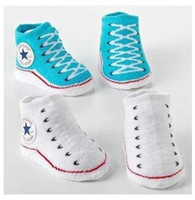Wholesale 7 colors choose Baby Infant Shoe Socks CON ERSE BABY INFANT Boys Girls CRIB SHOES BOOTIES SOCKS boot sock M