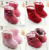 Winter Newborn Infant Boots Rainbow Stripe 0- 24M Toddler Bab...