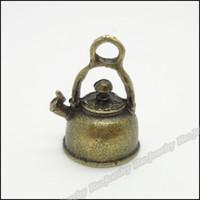Crimp & End Beads antique bronze pot - 50pcs Vintage Charms Pot Pendant Antique bronze Fit Bracelets Necklace DIY Metal Jewelry Making