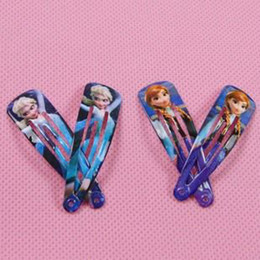 Wholesale 2014 Factory price pair Frozen Anna Elsa Girl Frozen Hair Clips Girls Hair Accessories Clamps Hairpin