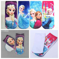 Wholesale 2014 Frozen Elsa Kids Girls Socks Dress up Size Shoe colors Girls socks shoe Cartoon socks