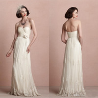 A-Line Reference Images Sweetheart Boho Simple Bling Backless Vintage White Cheap Sexy Wedding Dress Formal Bridal Dresses Bohemian Beach Ball Gowns 2014 Long Party With Lace