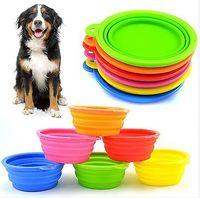 Wholesale Mix Colour High Grade Fold Pet Bowl High Quality Folding Dog Bowl Pet Food Dish Pet Feeders FS01008