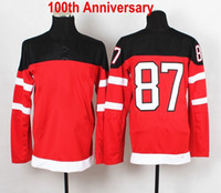 1914- 2014 new team jersey #87 brosby 100th Anniversary white...