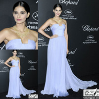 Reference Images Strapless Chiffon 2014 Sonam Kapoor C. PARTY AT CANNES FILM FESTIVAL Long Chiffon Elie Saab Celebrity Dress Women Gown Free Shipping ZSD-041