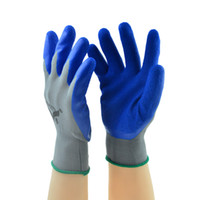 Wholesale 2014 Non slip cut coating rubber gloves Wear labor insurance breathable nylon stick hand to poach latex industrial site