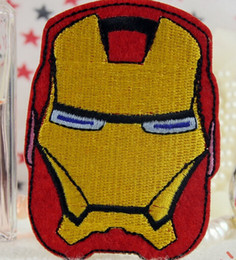Wholesale Wholesales Pieces Comic Movie Iron Man x cm Iron on Patch Embroidered Applique ALG