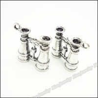 antique binoculars - 20 Vintage Charms Binoculars Pendant Antique silver Fit Bracelets Necklace DIY Metal Jewelry Making