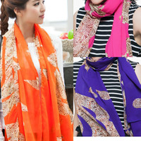 Chiffon fashion magazine - Air conditioning shawl fashion magazine models hit the color leopard Miss Han Ban fashion scarf multicolor optional X25