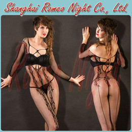 Wholesale Free Size Alluring Fishnet Body Stocking Lingerie Women Sexy Body Costumes
