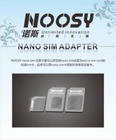 Wholesale 4 In Noosy Nano Micro SIM Adapter Eject Pin For Iphone For Iphone S With SIM Card Retail Box pcst High Quality