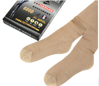Cheap free shipping with heel 680D varicose veins stovepipe socks pantyhose silk stockings wholesale from factory