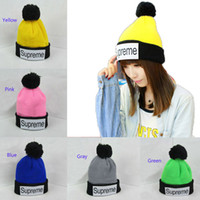Wholesale Adult Hats Fluorescent Color Matching Knitting Wool Cap Women Skull Caps